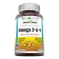 Amazing Omega Omega 3 6 9 1200 Mg 120 Softgels