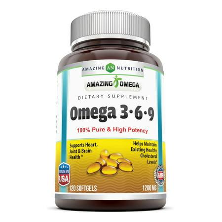 Amazing Omega Omega 3 6 9 1200 Mg 120 Softgels Walmart Com