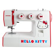 Janome Hello Kitty 15822 Full-Sized Sewing Machine with 22 stitches, interior metal frame, free arm and four presser feet