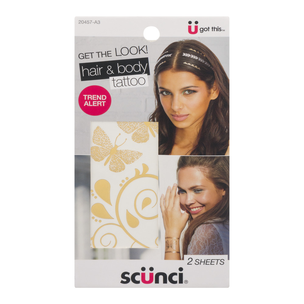 Scunci Hair & Body Tattoo Sheets - 2 CT