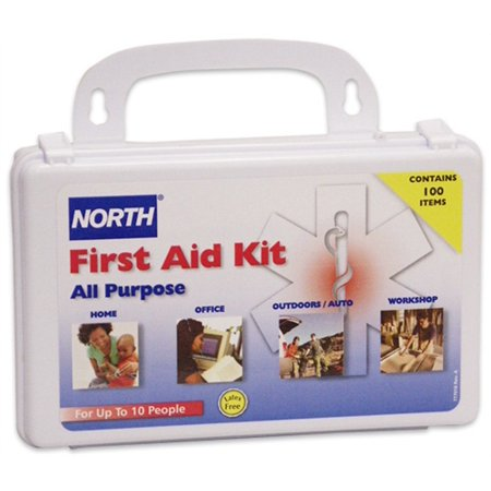 North 10 Person General Purpose Portable First Aid Kit