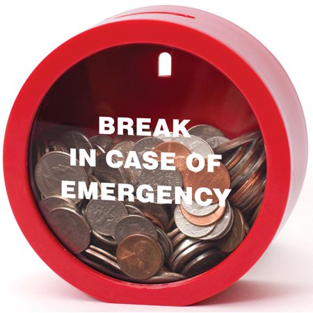 Emergency Money Bank - Fun Twist on Classic Piggy Coin