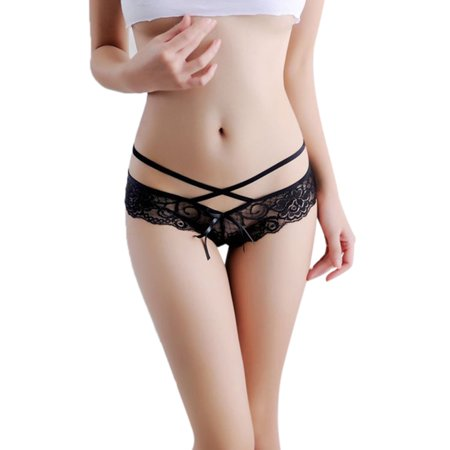 092372fa366 Elenxs - Women Girl Sexy Low Waist Lace Panties Cut Out Thongs Lingerie  Cross Underwear Briefs - Walmart.com