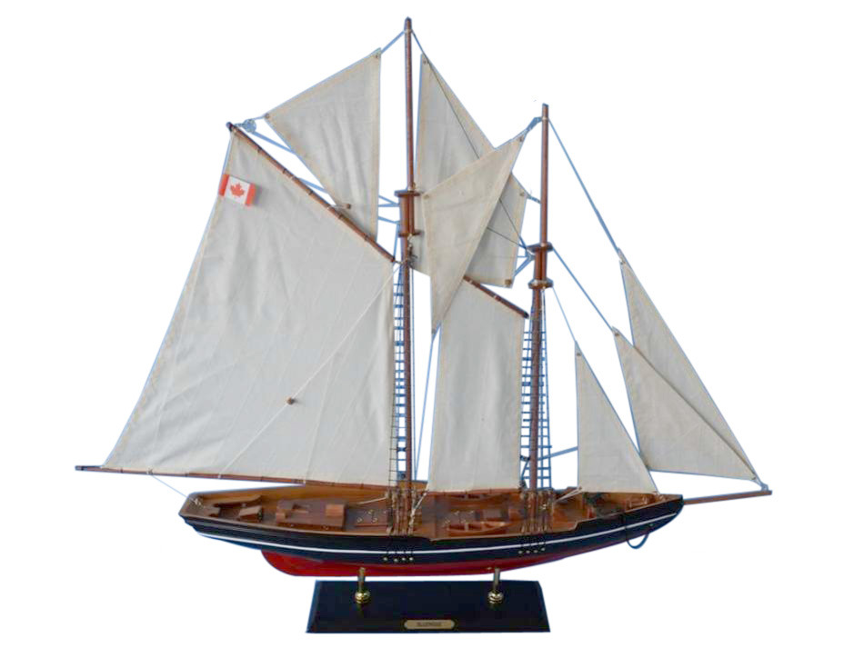"Click here to buy Bluenose 2 32"" Wood Sailboat Model Sailboat Model Decor Wooden Yacht Model Model Sailing Boat Nautical Decor Not A Model Ship Kit by Handcrafted Nautical Decor."