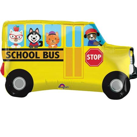 School Bus Foil Balloon 30