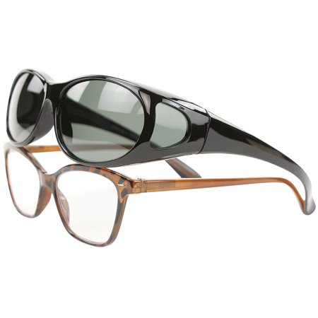 Fit-Over Glasses Black - Polarized Sun Protection Without The (Sunglasses Without Sun)
