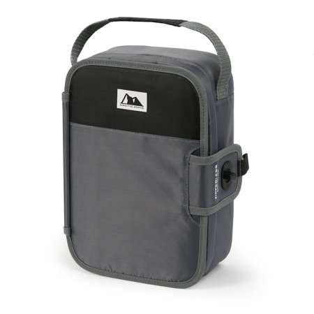 Arctic Zone Zipperless Lunch Dark Gray and Black