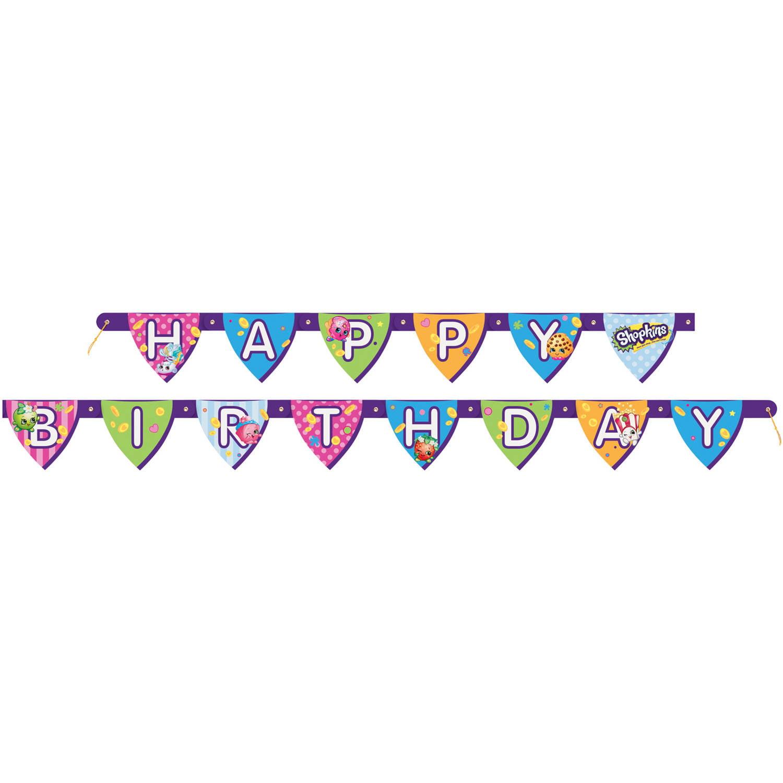 Shopkins happy birthday. Banner ft ct