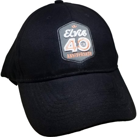 Elvis Presley 40th Anniversary Relaxed Mens Cap [Salmon Pink - Adjustable] - 40th Anniversary Party Ideas