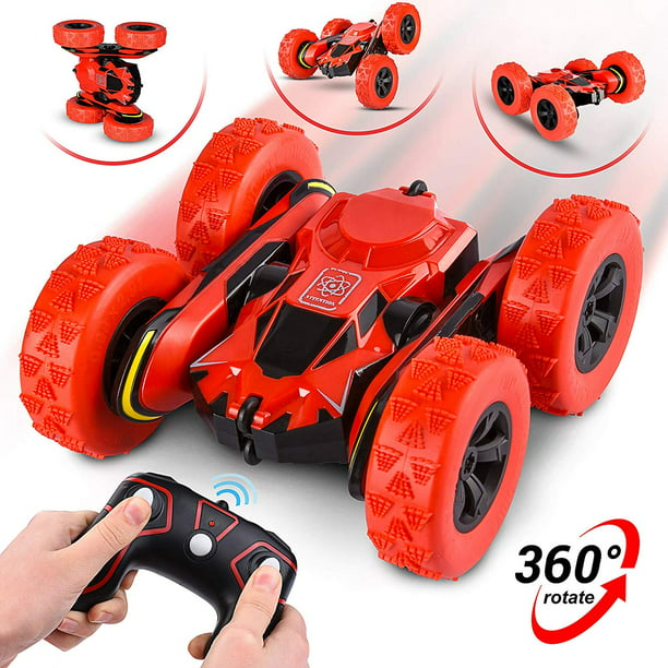 Abco Tech Remote Control RC Stunt Car Toy Rotating Racing Car 360° Flip 12 km/ Hour