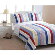Prairie Stripes 2pc Set Twin, Quilted