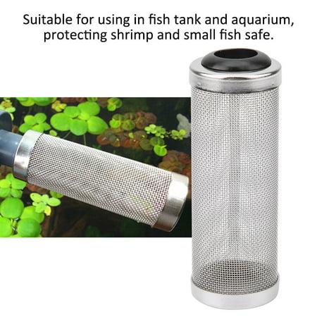 Anauto Filter Net Case for Aquarium,Aquarium Mesh Filter,Aquarium Fish Tank Stainless Steel Mesh Filter Net Case Cover Protect Shrimp