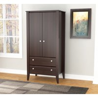 Inval Modern Espresso Two Door Two Drawer Wardrobe/Armoire