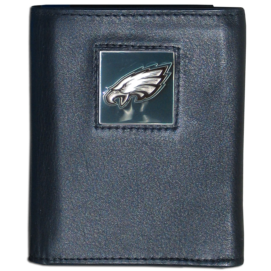 Philadelphia Eagles NFL Leather Tri-fold Wallet in Tin by Siskiyou 990663