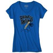 Redneck Recliner Funny Country Shirt | Cowboy Cool Gift Idea Junior V-Neck Tee