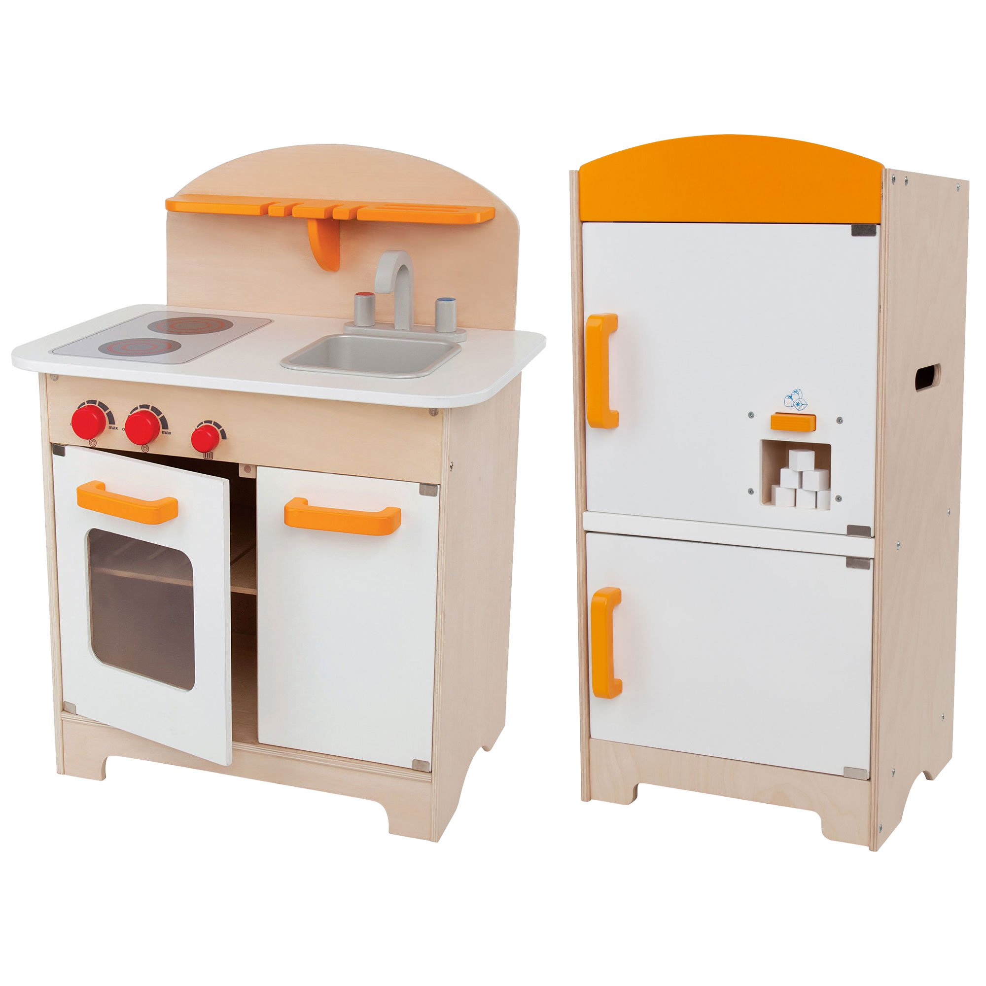 Hape Gourmet Kitchen Toddler & Kids Wood Play Pretend Kitchen and Fridge Playset