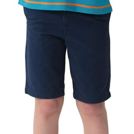 Leo&Lily Boys' Kids Elastic Waist Casual Fine Cotton Chino (Casual Chino Shorts)