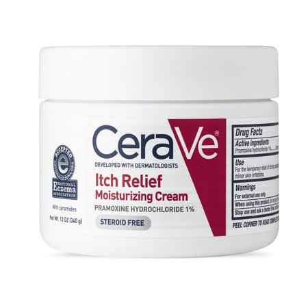 CeraVe Itch Relief Moisturizing Cream for Dry Skin, 12.0