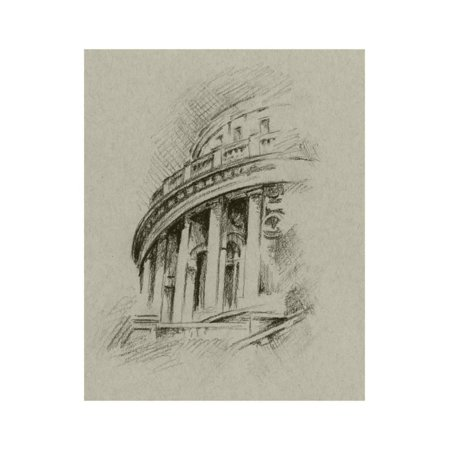 Architectural Wall Art (Charcoal Architectural Study I Print Wall Art By Ethan Harper)