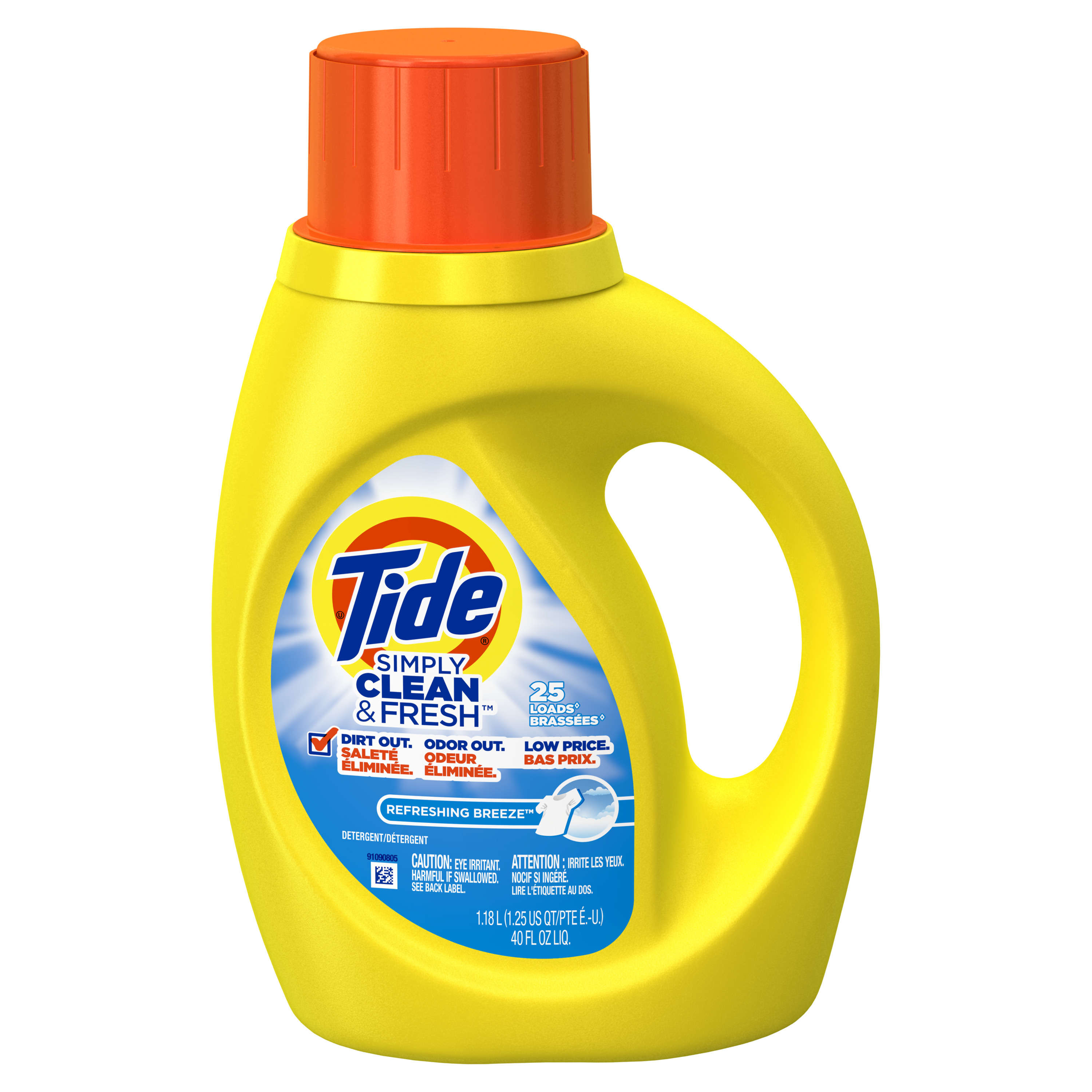 Tide Liquid Laundry Detergent, Refreshing Breeze, 25 Loads, 40 Fl Oz