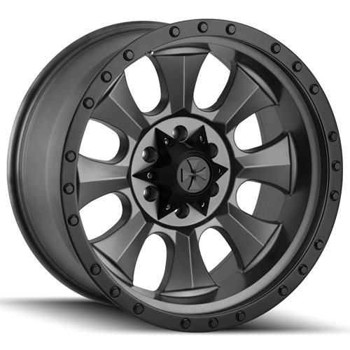 "18"" Inch Dirty Life 9300 Ironman 18x9 6x5.5"" -12mm Matte Black Wheel Rim"