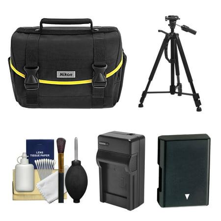 Nikon Starter Digital SLR Camera Case - Gadget Bag with EN-EL14 Battery + Charger + Tripod + Kit for for D3200, D3300, D3400, D5300, D5500, D5600