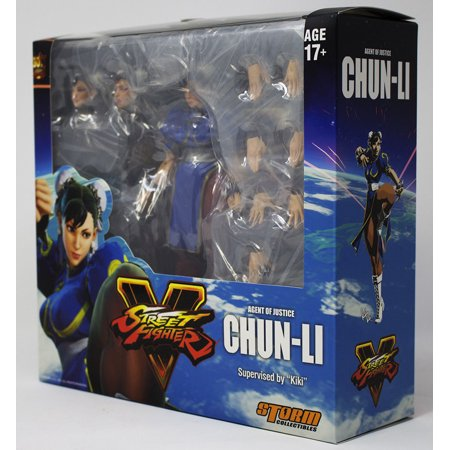 - New US Storm Collectibles Street Fighter V Chun-Li 1/12 Scale Action Figure Kiki