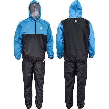 RDX MMA Sauna Sweat Suit Running Non Rip Track Weight Loss Slimmimg Fitness Gym Exercise