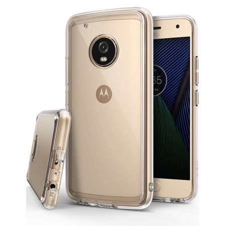 the best attitude 42e09 f0a85 Motorola Moto G5 Plus Case, Ringke [FUSION] Crystal Clear PC Back TPU  Bumper Case - Clear