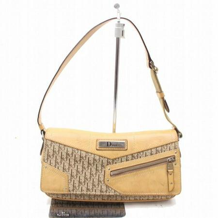 Monogram Signature Oblique Trotter Baguette 868850 Brown Canvas Shoulder (Dior Purse Price)