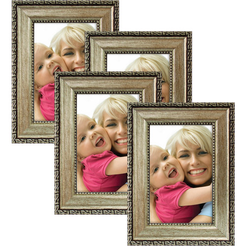 Mainstays Champagne Photo Frames, Set of 4