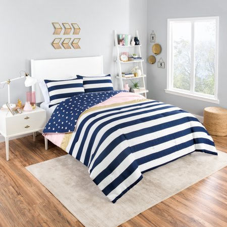 Vue Glam Stripe 3-Piece Reversible Comforter Set ()