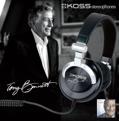 Tony Bennett TBSE1 Signature Edition Headphone - Black/Silver (Discontinued by Manufacturer)