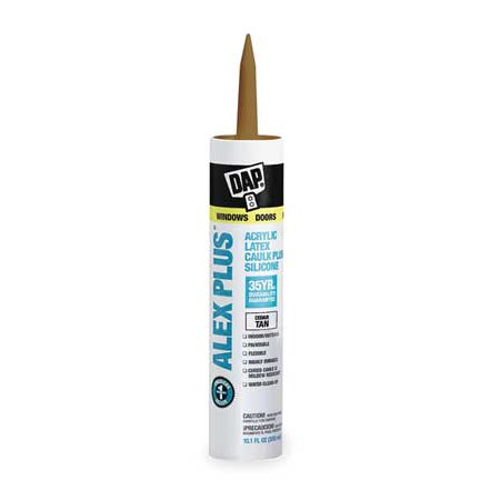 - Dap 18122 11 Oz Cedar Tan Alex Plus® Acrylic Latex Caulk With Silicone