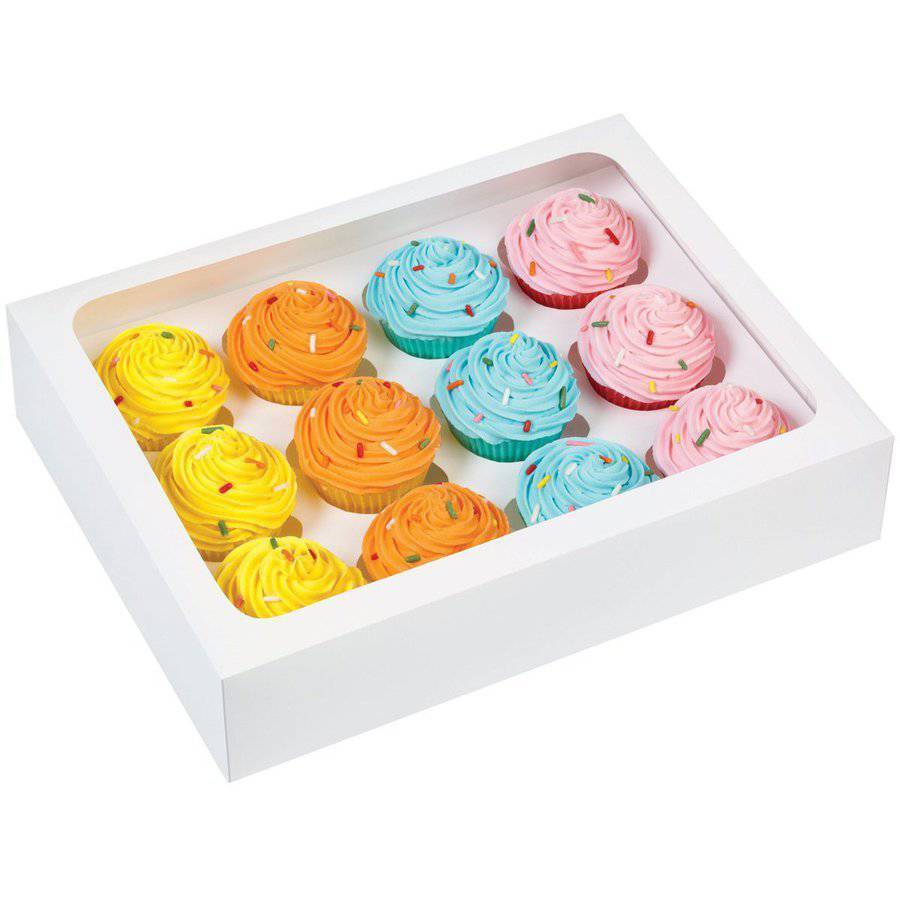 Wilton 12-Cavity Mini Cupcake Boxes, White 3 ct. 415-1696