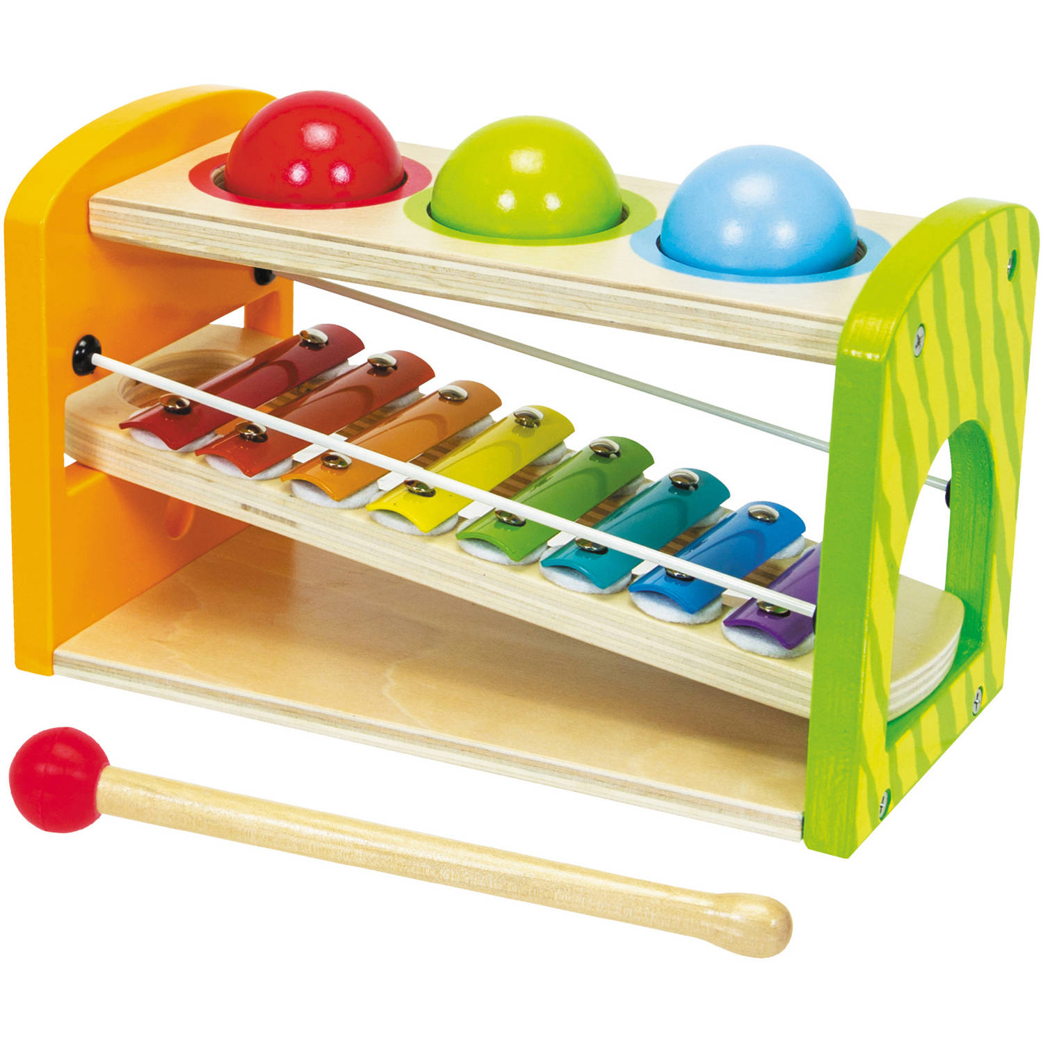 Eichhorn Color Wooden Xylophone Hammering Bench by Eichhorn