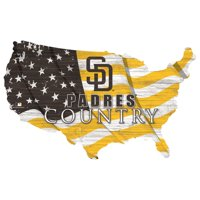 San Diego Padres USA Flag Cutout Sign