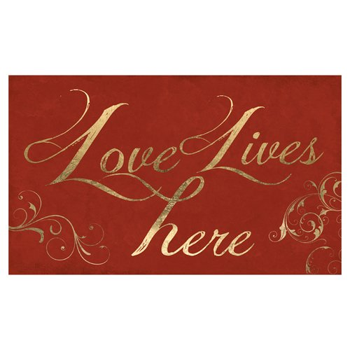 PTM Love Lives Here Giclee Graphic Art Print on Wrapped Canvas in Red