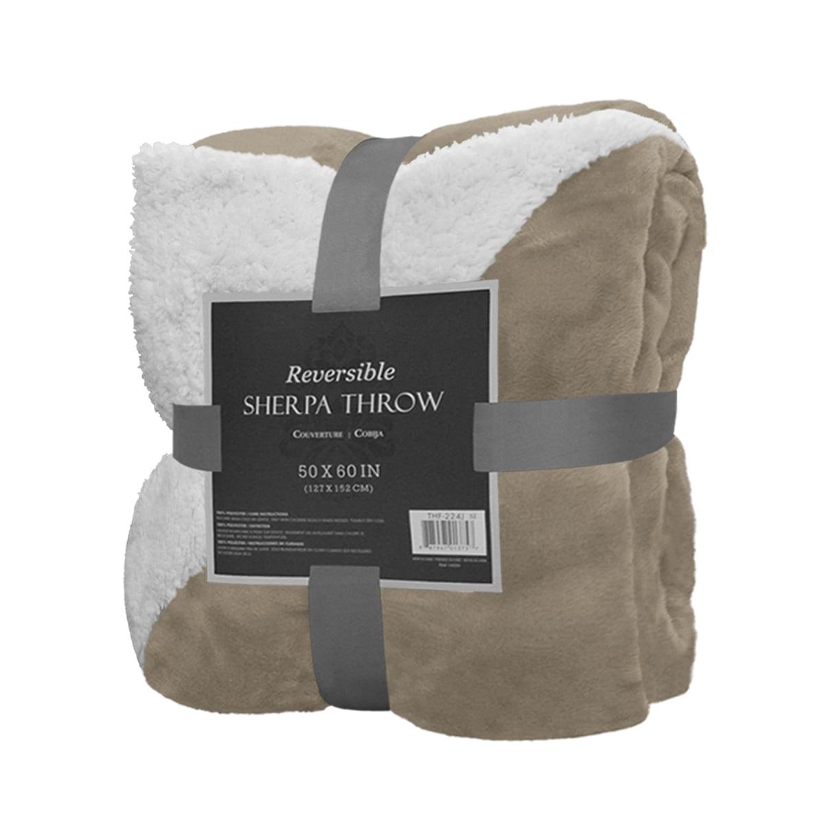 sherpa throw blanket Reversible Sherpa Throw Blanket 50