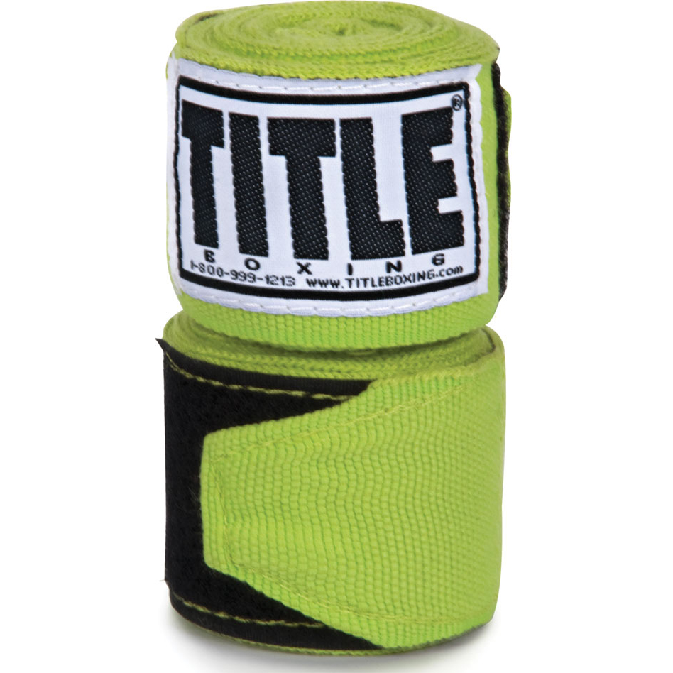 "Title Boxing 180"" Semi Elastic Mexican Handwraps - Lime Green"