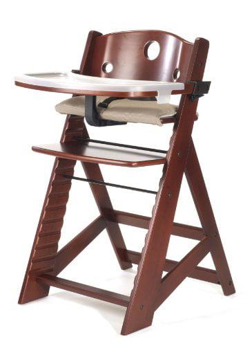 Keekaroo Height Right High Chair with Tray, Mahogany by Keekaroo