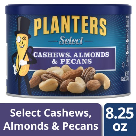 Planters Select Cashews, Almonds & Pecans, 8.25 oz Can