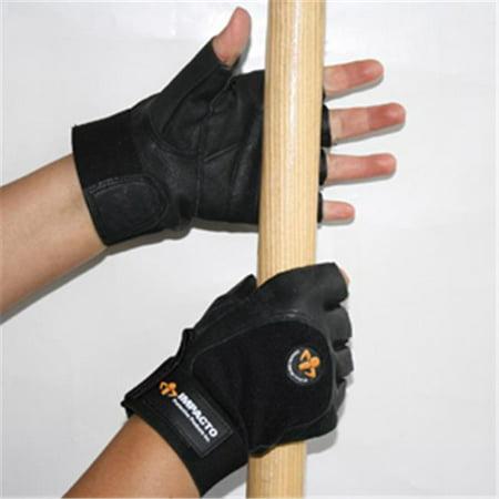 Anti Vibration Gloves - Impacto Protective Products AV40630 Anti Vibration Half Finger Glove With Foam - Medium
