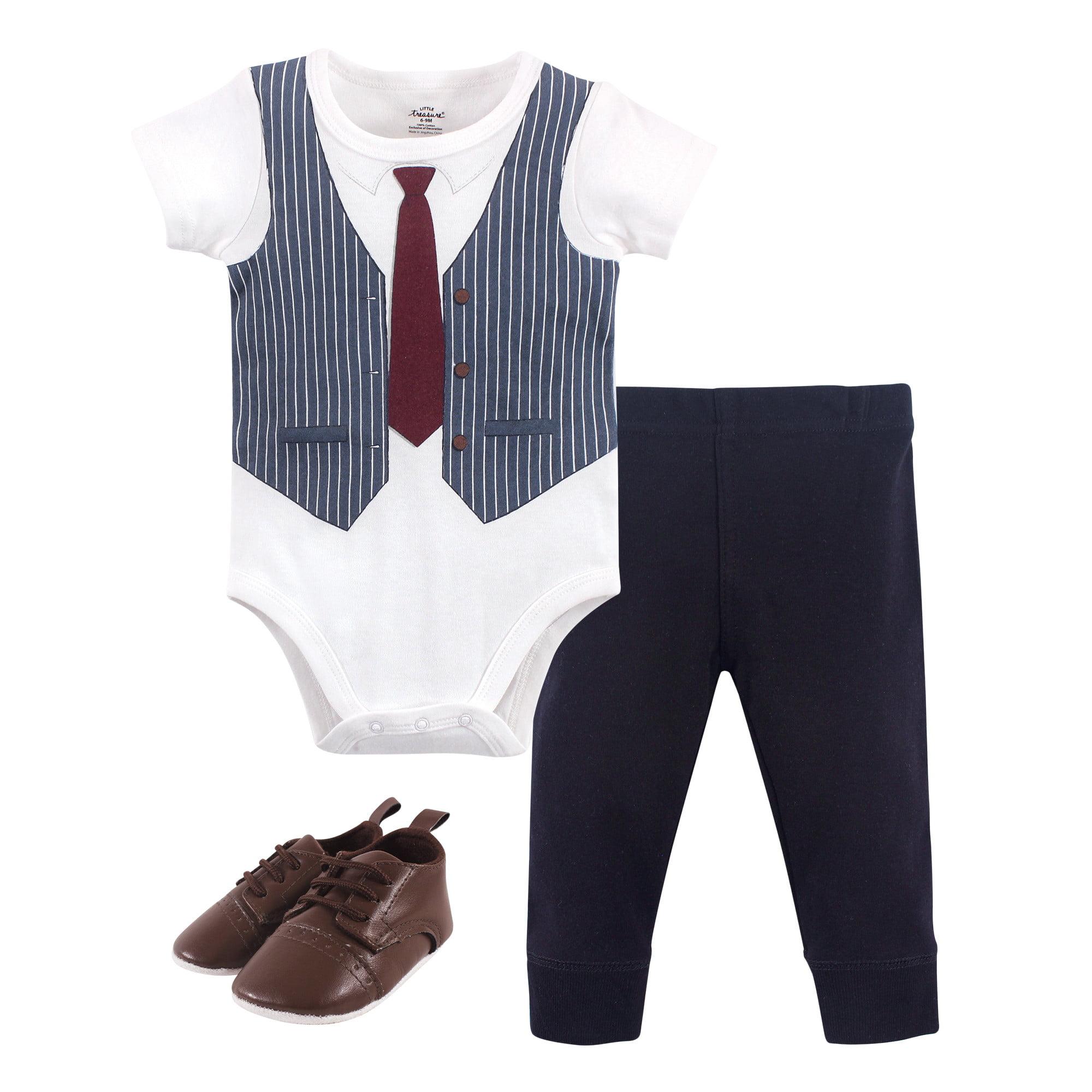 Little Treasure Boy Bodysuit 3-Piece Set Pant and Shoes Headphones