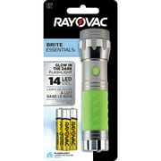 Rayovac Brite Essentials 3AAA LED Glow In The Dark Flashlight (colors vary: green, pink, blue, gray) BRS14LED-BA