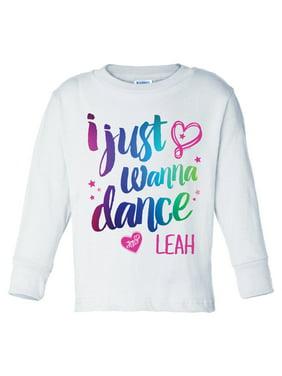 I Just Wanna Dance White Long Sleeve Youth T-Shirt