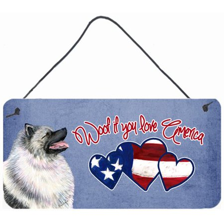 Caroline's Treasures Woof if you love America Keeshond by Suzanne Staines Painting Print Plaque