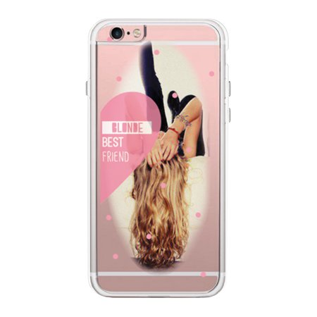 Blonde Best Friend Transparent Phone Case Cute Clear - Best Iphone Clear Case