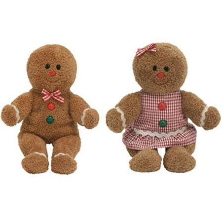 9365ff77b5e TY Beanie Babies - HANSEL   GRETEL the Gingerbread ( Set of 2 ) (7.5 inch)  Rare! - Walmart.com