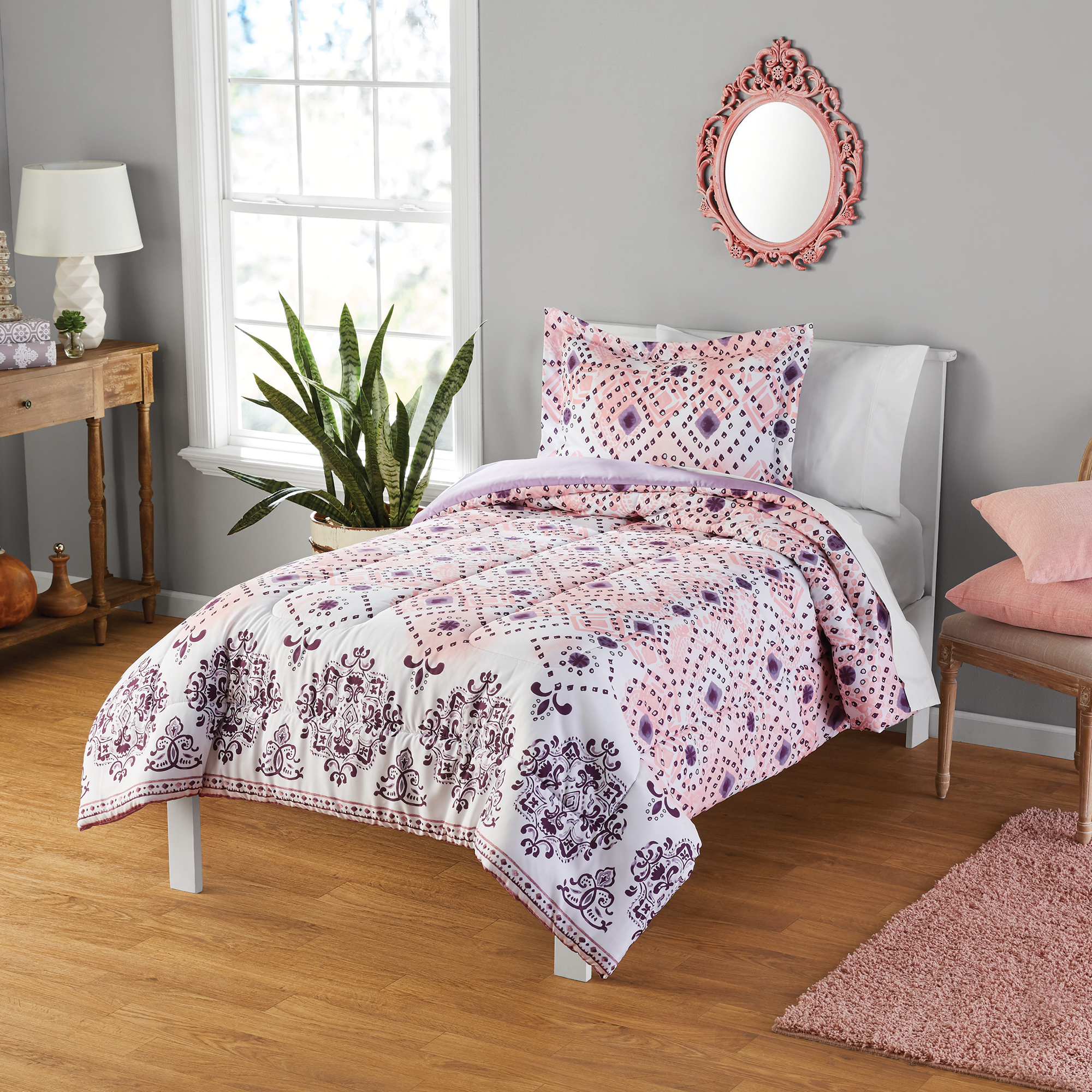 Your Zone Diamonds Print Comforter and Sham Set